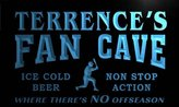 AdvPro Name tc297-b Terrence's Baseball Fan Cave Man Room Bar Beer Neon Light Sign