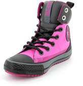 Converse Chuck Taylor All Star Asphalt Hi Boot Fashion Sneaker Shoe - Pink/Black - Big Kid - 4