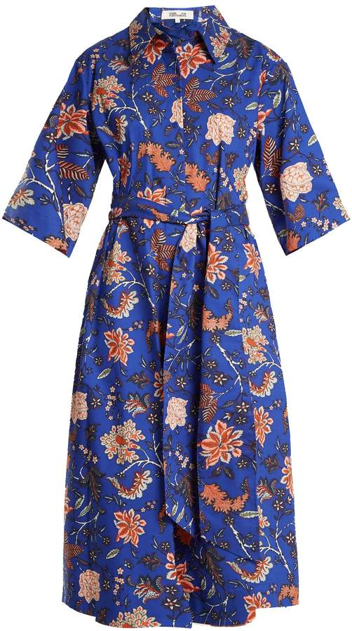 Diane von Furstenberg Canton-print stretch-cotton dress