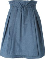 Jil Sander Navy A-line wrap skirt