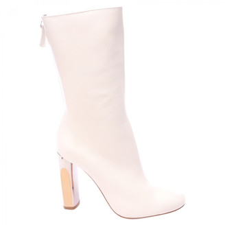 Alexander McQueen White Leather Boots