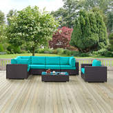 Modway Convene Outdoor 7 Piece Patio Seating Group with Cushions