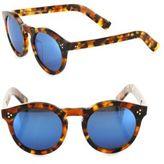 Illesteva Leonard II 50MM Mirrored Round Sunglasses