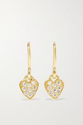 Jennifer Meyer Mini Heart 18-karat Gold Diamond Earrings - one size