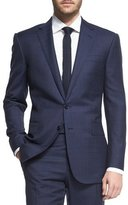 Ralph Lauren Prince of Wales Two-Piece Plaid Suit, Navy