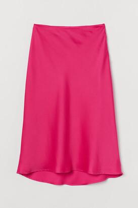 H&M Satin Skirt
