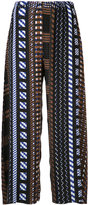 Issey Miyake Aztec print cropped trousers