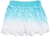 Design History Girls' Ombre Crochet Shorts