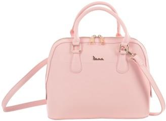 JAM Womens Blossom Handbag PU Faux Leather Ladies Multiway Crossbody Shoulder Strap Zip Closure Tote Fashion Bag - Pastel Pink