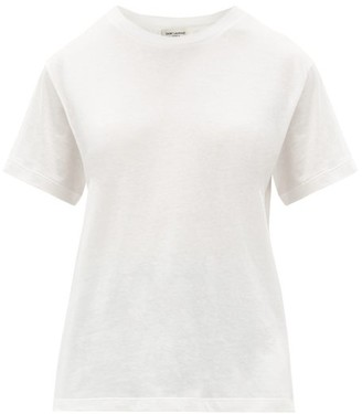 Saint Laurent Cotton-jersey T-shirt - White