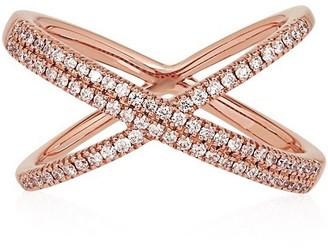 Alinka Jewellery Katia Superfine Double Crossover Ring Rose Gold