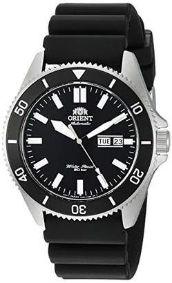 Orient Men's Kanno Stainless Steel Japanese-Automatic Diving Watch with Silicone Strap
