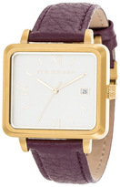 Ike Behar The Square Brushed Stainless Steel Watch, 37mm