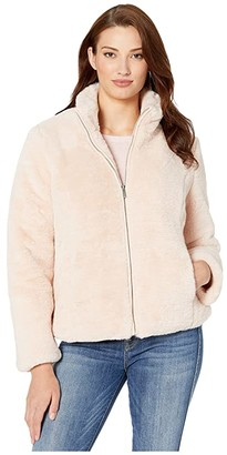 Tribal Zip Front Coat w/ Pockets (Blush) Women's Clothing
