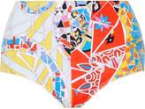 Emilio Pucci Printed cotton-blend terry bikini briefs
