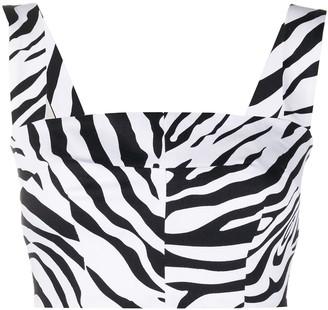 Dolce & Gabbana Zebra Print Bustier Top