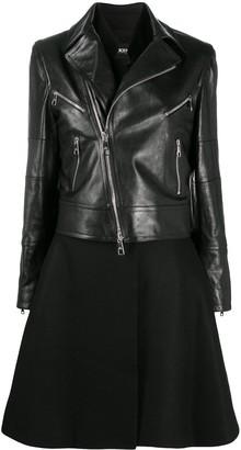 Neil Barrett Biker-Style Layered Coat
