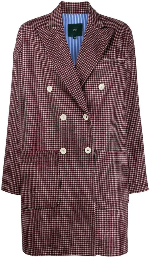 Jejia double breasted check coat