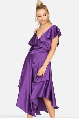 Girls On Film Midnight Hour Asymmetric Dress