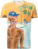 Moncler painted beach scene T-shirt - men - Cotton - L
