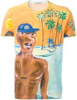 Moncler painted beach scene T-shirt - men - Cotton - S