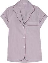 Bodas Verbier striped Swiss cotton pajama top