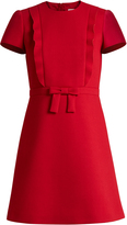 RED Valentino Bow-front crepe mini dress