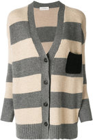 Zanone V-neck stripe cardigan