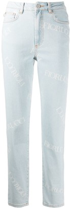 Fiorucci Scattered Logo High Rise Jeans