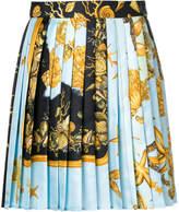 Versace short pleated skirt