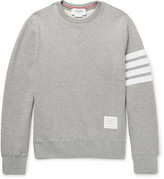 Thom Browne - Striped Loopback Cotton-jersey Sweatshirt