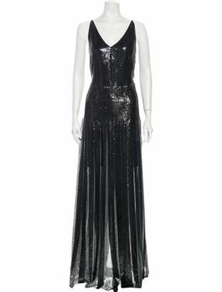 Akris V-Neck Long Dress w/ Tags Black