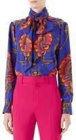 Gucci 70s Graphic-Print Silk Shirt