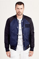 True Religion Mens Nylon Jacket With Contrast Sleeves