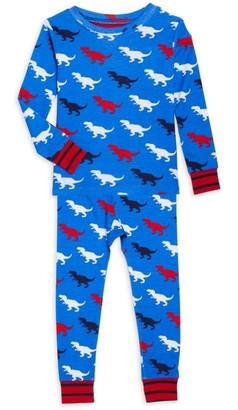 Hatley Little Boy's & Boy's 2-Piece T-Rex Long-Sleeve & Pants Set