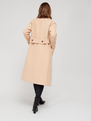 Very Relaxed Edge To Edge Coat - Camel