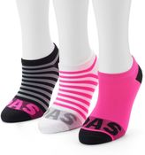 adidas Women's 3-pk. Striped Neon No-Show Socks