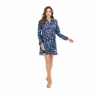 Mud Pie Women's Navy Leaf Collins Cover Up (Small)