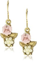 1928 Jewelry 1928 Bridal Porcelain Pearl Drop Earrings