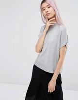 Monki High Neck Knitted T-Shirt