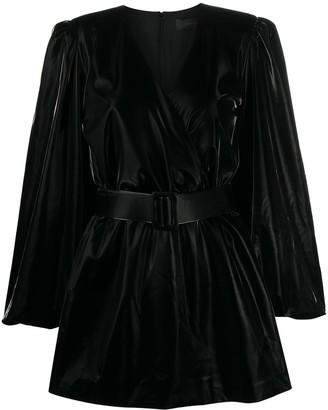 FEDERICA TOSI Belted Vinyl Mini Dress