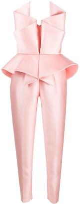 Azzi & Osta Origami Strapless Jumpsuit