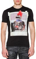 DSQUARED2 Graphic-Print Short-Sleeve Jersey Tee, Black