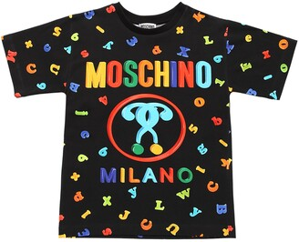 Moschino Embellished Cotton Jersey T-shirt