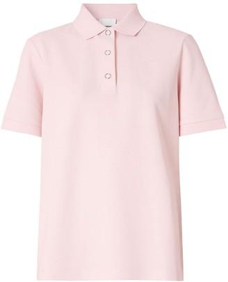 Burberry Monogram Motif Cotton Polo Shirt