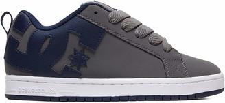 DC Shoes (DCSHI) Men's Court Graffik-Low-top Shoes Skateboarding (Grey/Orange) 5 UK