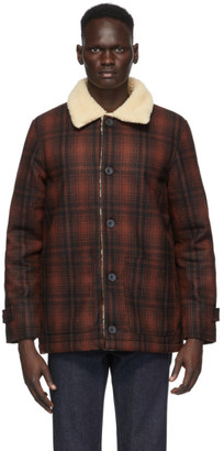 Nudie Jeans Red Mangan Lumber Jacket