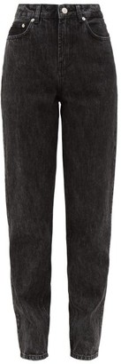 Ganni High-rise Straight-leg Jeans - Womens - Black