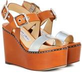 Jimmy Choo Alton 100 leather platform sandals