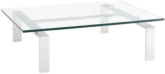 Ralph Lauren Home Pall Mall Cocktail Table; Silver/Clear